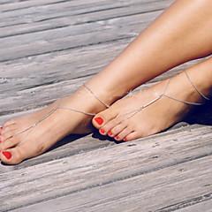 Damskie Łańcuszek na kostkę/Bransoletki Stop minimalistyczny styl Modny Obuwie damskie Biżuteria Impreza Codzienny Casual 1szt