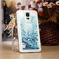 For Samsung Galaxy Note Flydende væske Etui Bagcover Etui Glitterskin PC Samsung Note 4 / Note 3