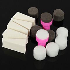 15pcs ferramentas de arte dia manicure prego esponja para cor gradiente de nail art