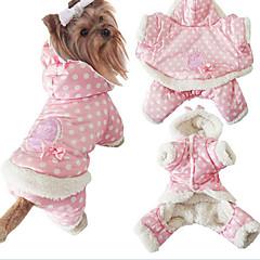 Koirat Takit Hupparit Yöpuvut Koiran vaatteet Talvi 봄/Syksy Pistekuvio Söpö Pidä Lämmin