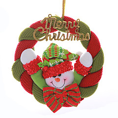 """8 """"메리 크리스마스 화 환 산타 클로스 눈사람 매달려 크리스마스 트리 장식"""