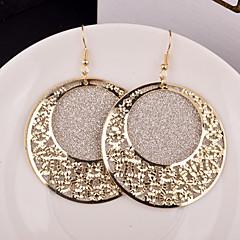 Mulheres Brincos Compridos Bijuterias Destaque Festival/Celebração Personalizado Casamento bijuterias Liga Formato Circular Jóias Para