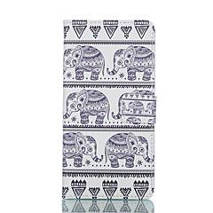 Na Samsung Galaxy Etui Portfel / Etui na karty / Z podpórką / Flip Kılıf Futerał Kılıf Słoń Skóra PU Samsung S6 edge / S6 / S5 Mini / S5