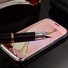 Voor Samsung Galaxy hoesje Spiegel / Flip hoesje Volledige behuizing hoesje Effen kleur PC Samsung S6 edge plus / S6 edge / S6 / S5