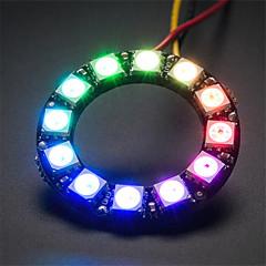 ws2812 5050 rgb yuvarlak lamba geliştirme kurulu 12 liderliğindeki - siyah