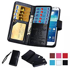 Mert Samsung Galaxy Note Kártyatartó / Pénztárca / Flip Case Teljes védelem Case Egyszínű Műbőr Samsung Note 5 / Note 4 / Note 3