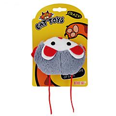 Kattenspeeltje Huisdierspeeltjes Kattenkruid Pluche speelgoed Cartoon Muis Kunststof Oranje Grijs