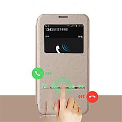 Mert Samsung Galaxy S7 Edge Betekintő ablakkal / Flip Case Teljes védelem Case Egyszínű Műbőr SamsungS7 edge / S7 / S6 edge plus / S6