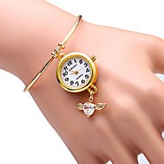JUBAOLI Dame Modeur Armbåndsur Quartz Legering Bånd Glitrende Hjerteformet Guld Guld