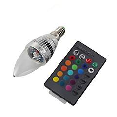 Youoklight® e14 3w távvezérelt led gyertya izzó színes fény 200-250lm - ezüst (ac 110-120v / 220-240v)