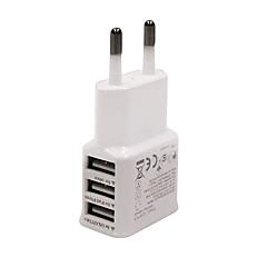 Wtyczka EU Telefonowa ładowarka USB Wieloportowa cm Wyloty 3 porty USB AC 100V-240V
