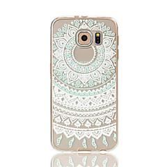 For Samsung Galaxy S7 Edge Transparent Mønster Etui Bagcover Etui blondedesign Blødt TPU for S7 edge S7 S6 edge S6