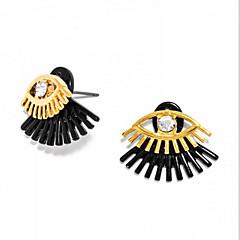 Oorbellen set Dubbele laag Leder Legering Geel Zwart/Geel Wit /Geel Sieraden Voor Dagelijks Causaal 1 paar
