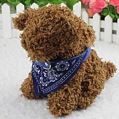 Kediler / Köpekler Yaka Fuları Moda Çiçek Kırmızı / Siyah / Mavi Kumaş