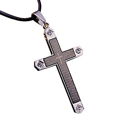 십자가 목걸이 티타늄 멋진 모자이크 크리스탈 목걸이