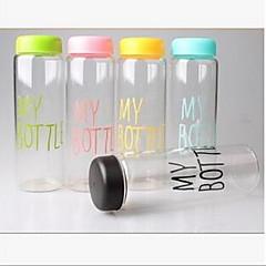 Şişe plastik bardak taşınabilir su şişesi (rasgele renk)