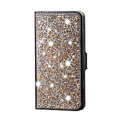 Mert Samsung Galaxy tok Strassz Case Teljes védelem Case Csillámpor Műbőr Samsung S6 edge plus / S6 edge / S6 / S5 / S4 / S3