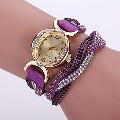 Dames Modieus horloge Polshorloge Armbandhorloge Gesimuleerd Diamant Horloge Kwarts / imitatie Diamond Leer Band Bloem BohémienZwart Wit