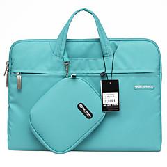 gearmax® 14inch / 15inch αδιάβροχο χειρός περίπτωση lap-top / τσάντα στερεό χρώμα μπλε / πράσινο / ροζ / γκρι