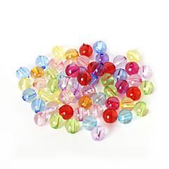 beadia válogatott színes akril gyöngyök 10mm sima kerek műanyag távtartó laza gyöngyök (50g / kb 80pcs)