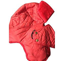 귀덮개 모자 / 털/모피 모자 스키 모자 여성의 / 남성의 보온 스노우보드 폴리에스터 레드 / 블랙 스키 / 캠핑 & 하이킹 / 스노우스포츠 / 다운힐 겨울 스포츠
