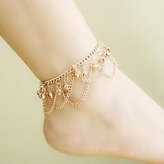 Kadın Ayak bileziği/Bilezikler Altın Kaplama alaşım Eşsiz Tasarım Püsküller Bohemia Stili Moda Mücevher Altın Bayanlar Mücevher Günlük 1pc