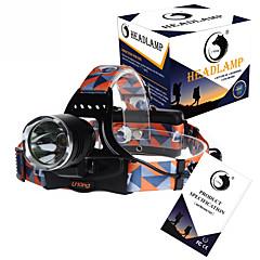 U'King Φακοί Κεφαλιού Προβολέων Ιμάντες LED 3000LM Lumens 3 Τρόπος Cree XM-L T6 18650 Επαναφορτιζόμενο Μικρό Μέγεθος High Power Εύκολη
