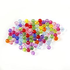 beadia válogatott színes akril gyöngyök 6mm sima kerek műanyag távtartó laza gyöngyök (50g / kb 400pcs)