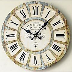 현대/현대 국가 캐주얼 가족 벽 시계,라운드 나무 실내/야외 실내 야외 시계