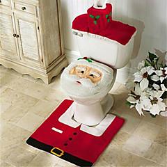 메리 크리스마스, 해피 뉴가 최고의 크리스마스 선물& 크리스마스 장식 욕실 변기 카펫