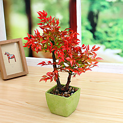 Set of 1 PCS 1 Κλαδί Πολυεστέρας Φυτά Λουλούδι για Τραπέζι Ψεύτικα λουλούδια 11