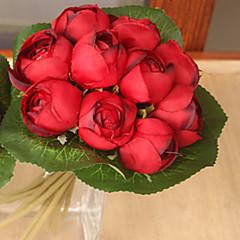 1 1 Κλαδί Πολυεστέρας / Πλαστικό Λοτός Λουλούδι για Τραπέζι Ψεύτικα λουλούδια 9*7.8inch/23*20cm