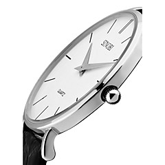 SINOBI Férfi Divatos óra Kvarc Vízálló Ütésálló Valódi bőr Zenekar Régies (Vintage) Luxus minimalista Fekete Barna