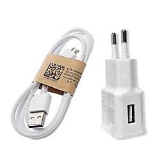 gyorstöltő Otthon töltő / hordozható töltő EU csatlakozó 1 USB port Kábel Mert Mobil(5V , 1A)