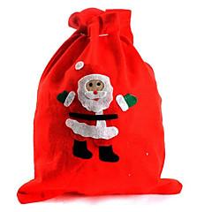 dom saco 2pcs natal papai noel bolsa saco do presente véspera de natal (estilo aleatório)