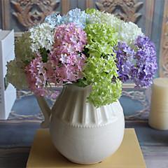 3 3 Κλαδί Μετάξι Ορτανσίες Λουλούδι για Τραπέζι Ψεύτικα λουλούδια 32CM