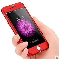 Para iPhone 8 iPhone 8 Plus iPhone 7 iPhone 7 Plus Case Tampa Anti-poeira Antichoque Corpo Inteiro Capinha Côr Sólida Rígida PC para Apple