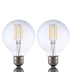 3.5 E26 Żarówka dekoracyjna LED G80 4 COB 350 lm Ciepła biel Ściemniana AC 110-130 V 2 sztuki