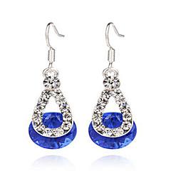 απομίμηση διαμαντιών Κρεμαστά Σκουλαρίκια Κοσμήματα Γυναικεία Πάρτι Καθημερινά Causal Ασήμι Στερλίνας Κράμα Πετράδι Ρητίνη 1 ζευγάριΡοζ