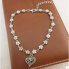 Damskie Łańcuszek na kostkę/Bransoletki Stop Miłość Klasyczny Ręcznie wykonane Heart Shape Biżuteria Na Ślub Impreza