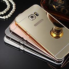 plating spiegel terug met metalen frame telefoon geval voor Galaxy S7 s4 s5 s6 rand plus