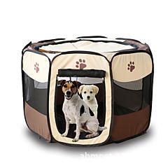 قط كلب خيمة الكاميرا حيوانات أليفة حاملات قابلة للطى كارتون أصفر وردي بني أحمر أحمر داكن