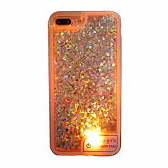 For Etuier Flydende væske LED Gennemsigtig Bagcover Etui Hjerte Blødt TPU for AppleiPhone 7 Plus iPhone 7 iPhone 6s Plus iPhone 6 Plus