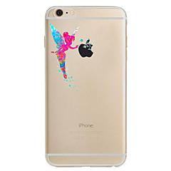 Voor iPhone 8 iPhone 8 Plus iPhone 7 iPhone 7 Plus iPhone 6 Hoesje cover Ultradun Patroon Achterkantje hoesje Sexy dame Zacht TPU voor