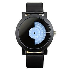 Uniszex Divatos óra Egyedi kreatív Watch Kvarc ötvözet Zenekar Fekete