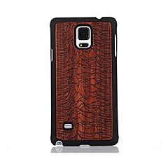 Mert Minta Case Hátlap Case Látvány Kemény Fa mert Samsung Note 4