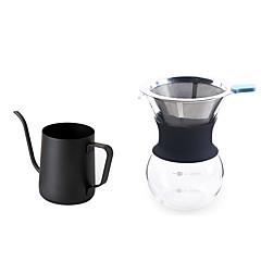 # ml Ανοξείδωτο Ατσάλι Glass Σετ παρασκευής καφέ , ετοιμάζω καφέ Κατασκευαστής Επαναχρησιμοποιήσιμο