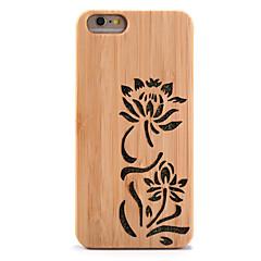 For Stødsikker Præget Etui Bagcover Etui Glitterskin Blomst Hårdt Bambus for AppleiPhone 6s Plus iPhone 6 Plus iPhone 6s iPhone 6 iPhone