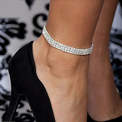 Dames Lichaamssieraden Beenketting Modieus Kostuum juwelen Kristal Legering Sieraden Voor Bruiloft Feest Speciale gelegenheden  Verloving