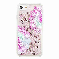 For Flydende væske Mønster Etui Bagcover Etui Glitterskin Blomst Blødt TPU for AppleiPhone 7 Plus iPhone 7 iPhone 6s Plus iPhone 6 Plus